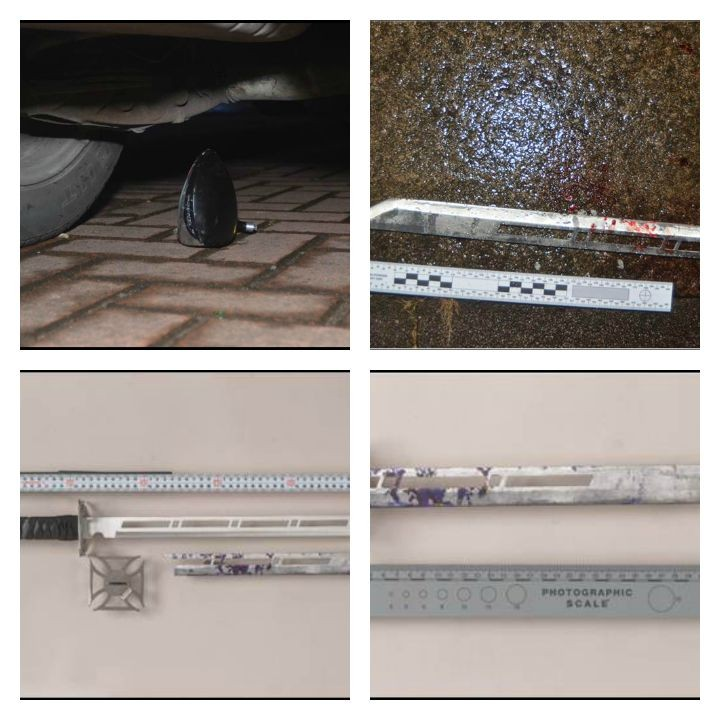 Weapons found at the scene used to attack and kill Jonjo