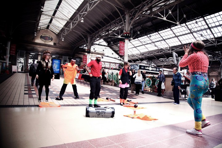 Keeping fit session with Preston Station staff Pic: Ashley Hardman