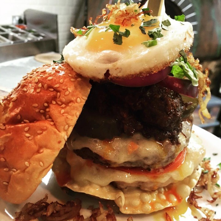 One of Marco and Carl's burger creations Pic: Facebook
