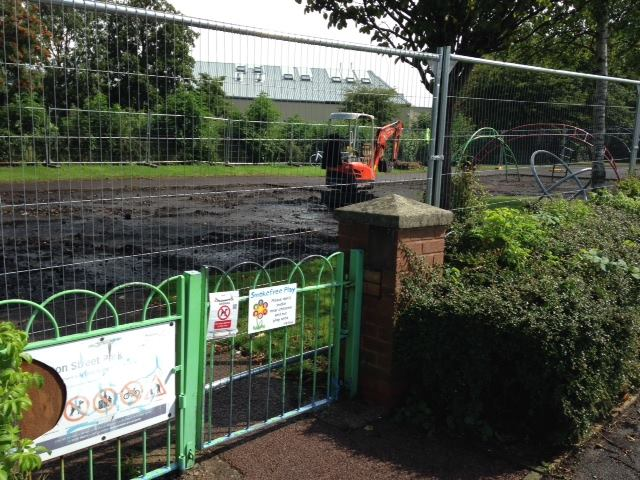 Work begins on Euston Street play area