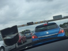 There are long delays on the M6 northbound between Junction 31 and 31a Pic: Sami_1880