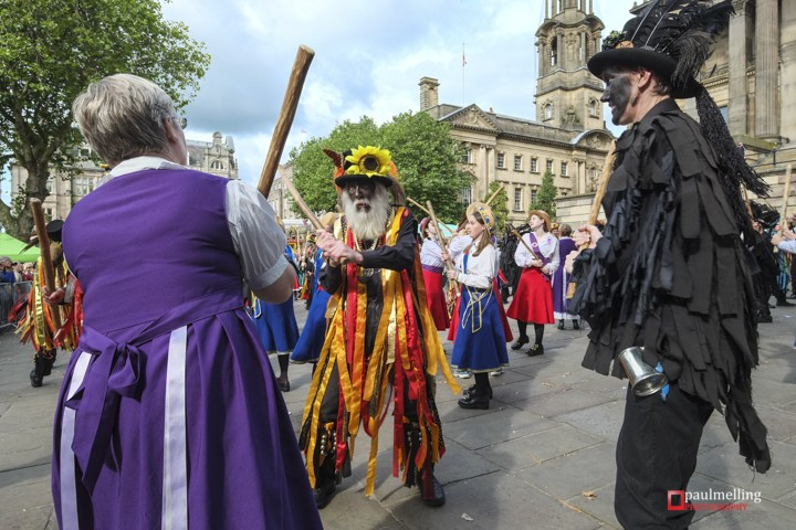 Preston UK. 5th September 2015. New Morris Dancing Guinness Worl