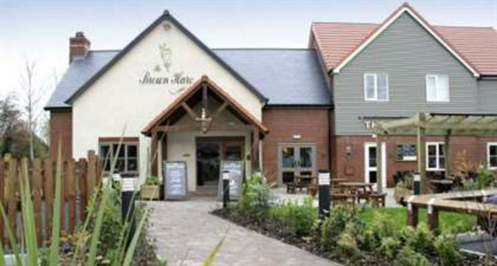 The Brown Hare's beer garden has been a sticking point in the A582 plans