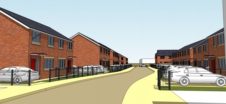 An artist impression of the types of homes Mulbury are looking to build