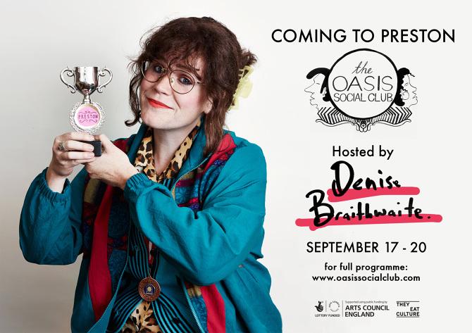 Rebecca in character as Prestonian, Denise Braithwaite