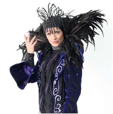 Maleficent (the bad fairy), played by the beautiful Jacqueline Leonard