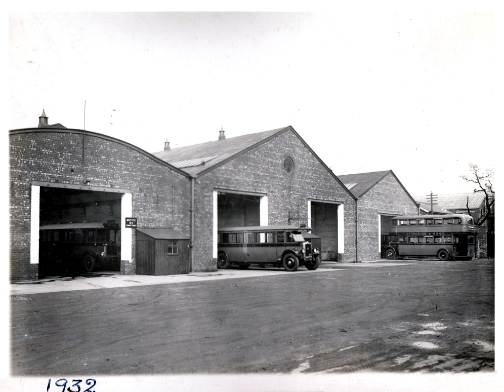 Fishwick Garages 1932. Pic: Courtesy of John Fishwick and Sons