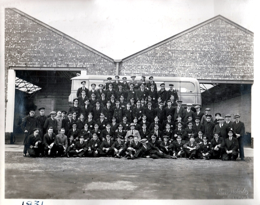 Fishwicks staff 1931. John Fishwick in the lower centre in the paler suit. Pic: Courtesy of John Fishwick and Sons