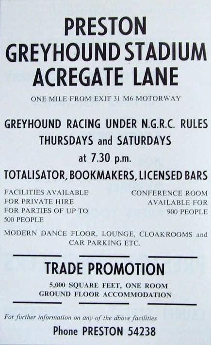 Preston Greyhound Stadium Flyer. Pic: Tony Worrall.