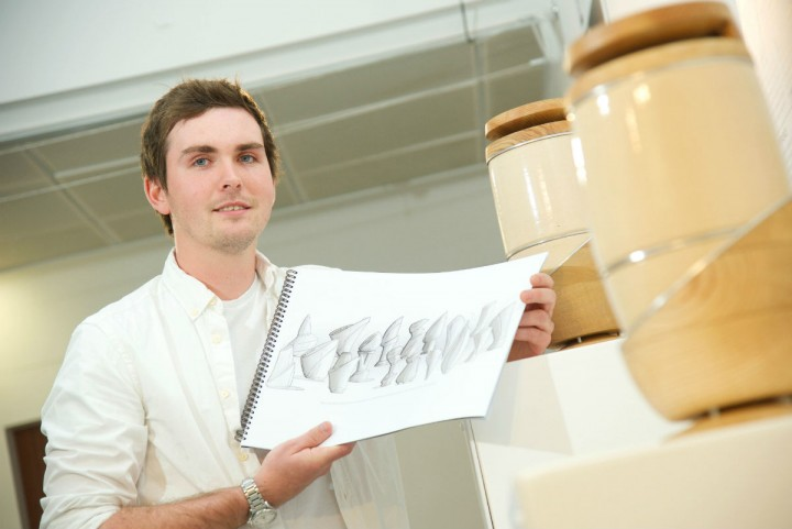 Dan Phillips with his creations