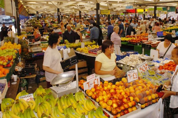 Inside Leicester Market