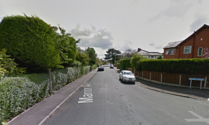 Manor Avenue where the incident took place Pic: Google