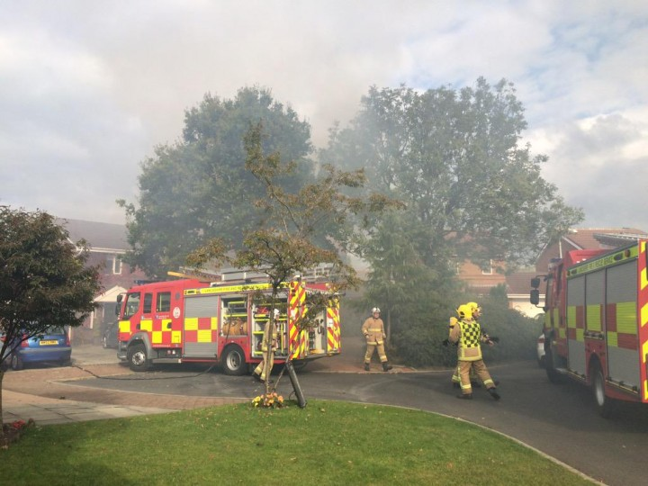 Fire crews on the scene in Cottam Pic: Shaun Walton
