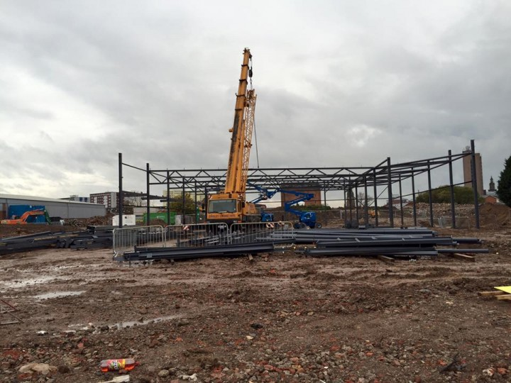 The first of the structures in the Queen Street Retail Park Pic: Haydn J Williams