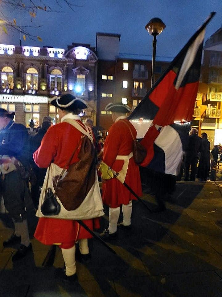 Re-enactment on Chuch Street, Preston, Lancashire - 1715 Last Battle on English Soil Pic: Karen Anne Doyle