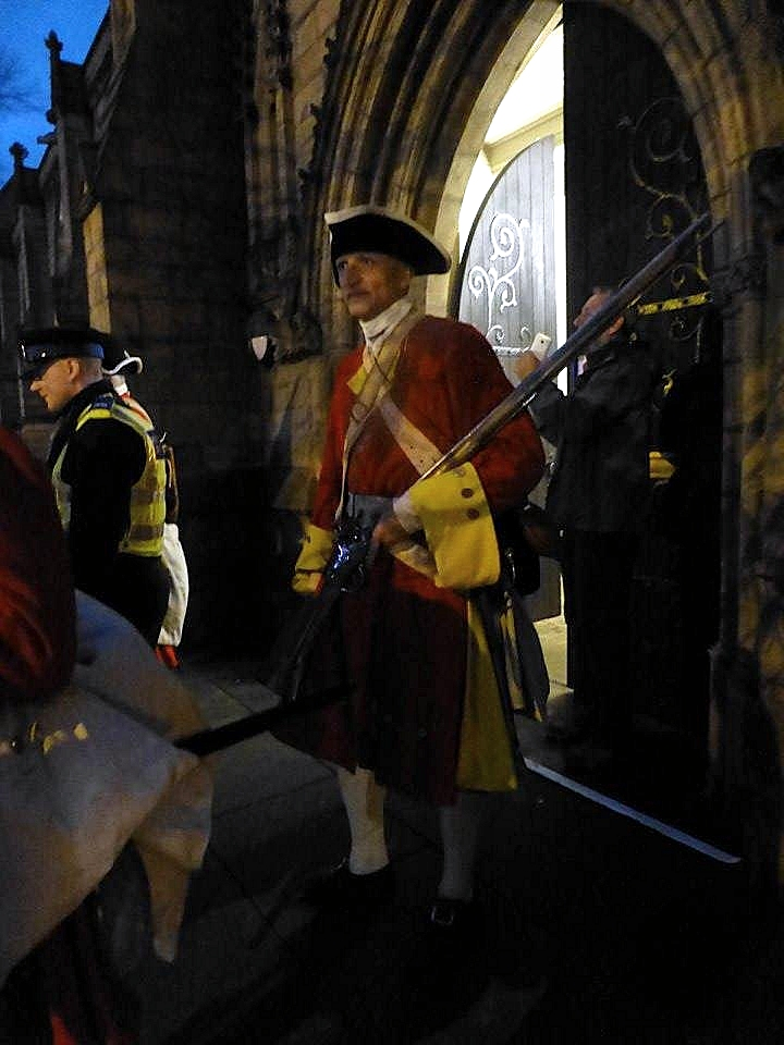 Re-enactment on Chuch Street, Preston, Lancashire - 1715 Last Battle on English Soil Pic: Karen Anne Doyle