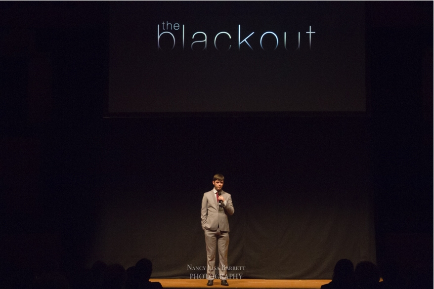 Co-ordinating director, Alan Livesey on Stage prior to the film's screening - Pic: Nancy Lisa Barrett Photography