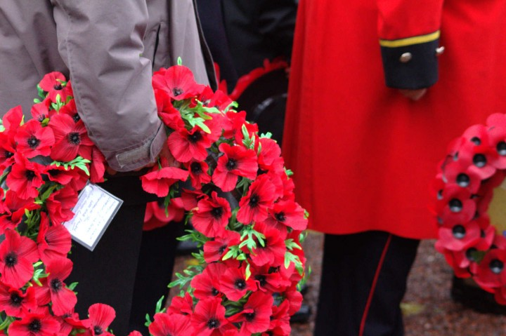 The poppy wreaths are carried Pic: Henna Sheth