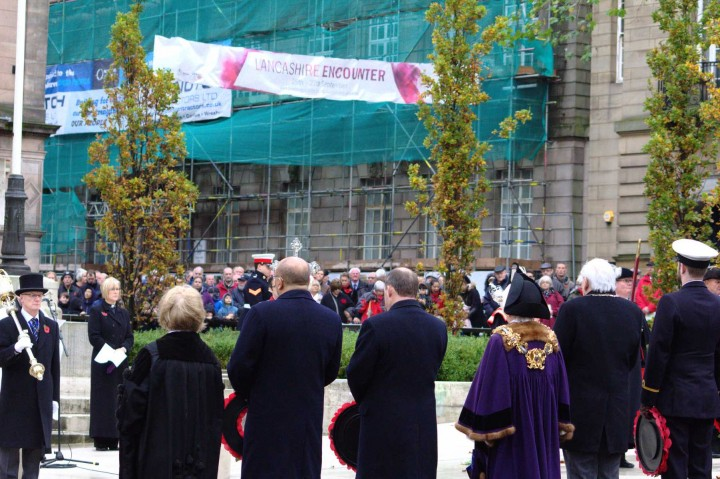 The service at the Cenotaph Pic: Henna Sheth