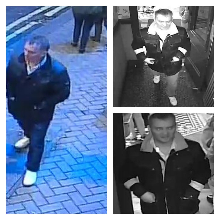 CCTV pictures of a man police would like to speak to