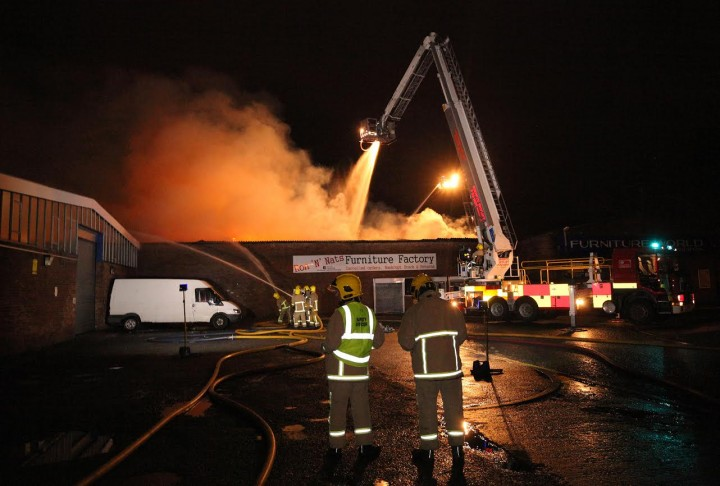 Crews tackle the blaze at Ribbleton Lane