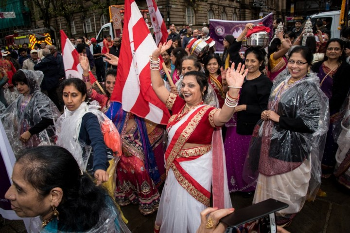 The celebration began at the Flag Market shortly after lunchtime on Saturday