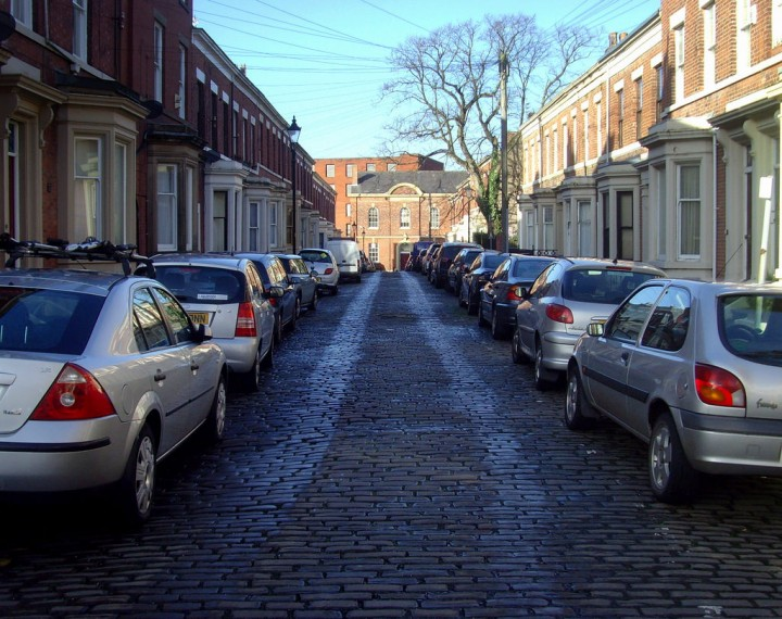 Parked cars in Preston Pic: Tony Worrall