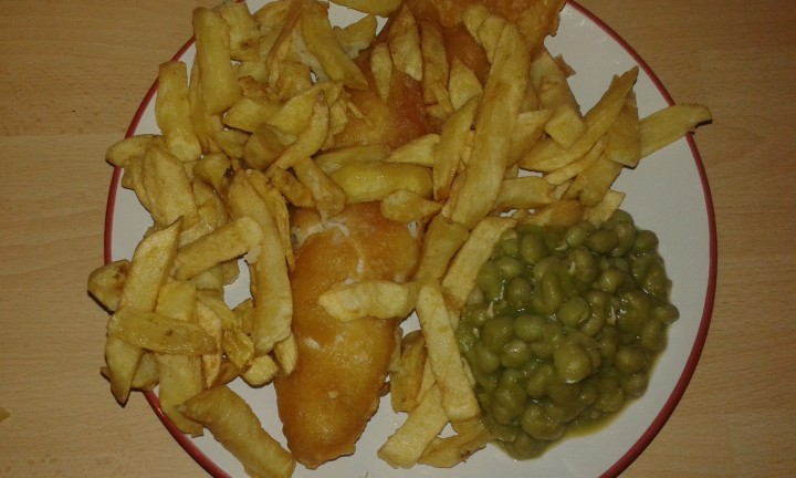 The fish and chip supper from the West End Fish Bar