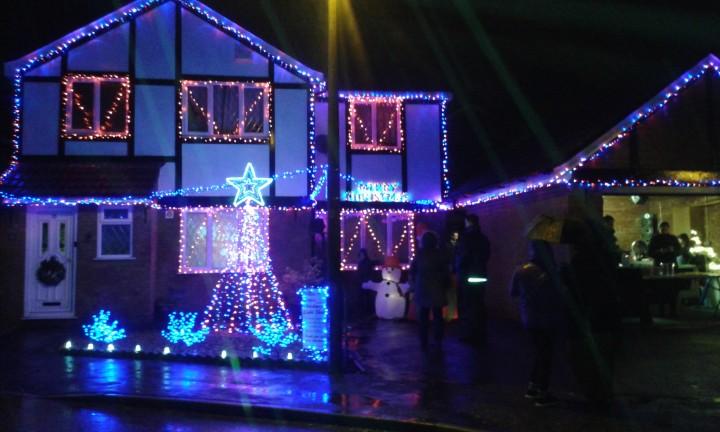 Ben and Gemma's festive display