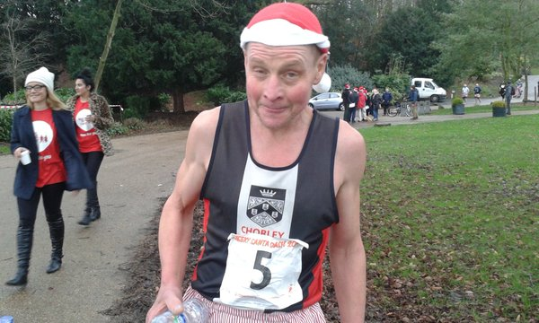 Warren who came first in the Santa Dash