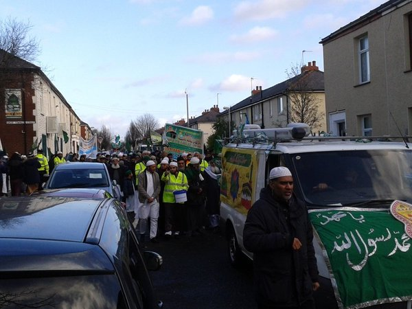 The procession in Fishwick