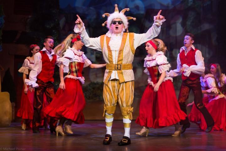 Archie Kelly as The King. Pic: Photgrapher Michael Porter