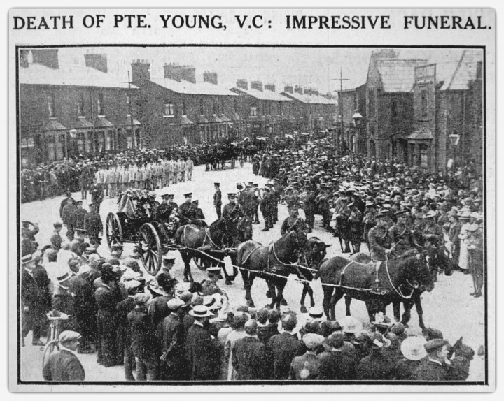 Preston Guardian Extract 2 September 1916 of Funeral of Private Young V.C.