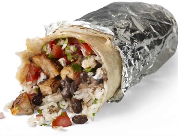 A burrito from Yo Burrito