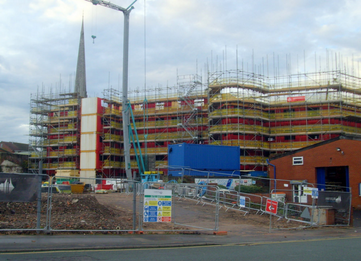 Construction site in Fylde Road Pic: Tony Worrall