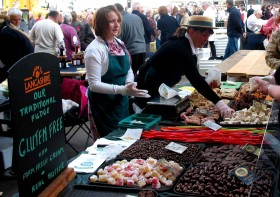 Fudge stand at Preston Farmer's Market
