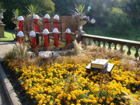 Art installation in Miller Park