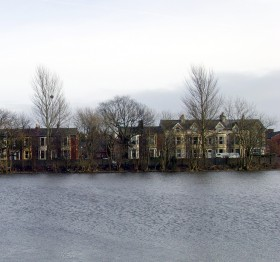 View across River Ribble to Broadgate