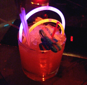 Rainbow Road cocktail at Preston's Cocktail Factory