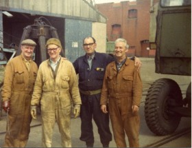 Richard Taylor, second from right, with colleagues