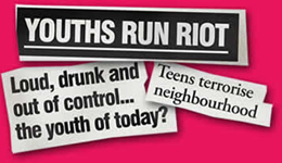 Youths Run Riot