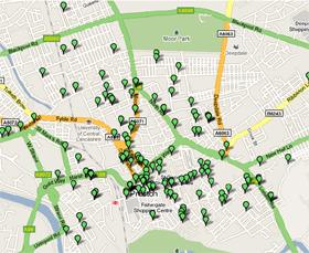 Preston pubs map