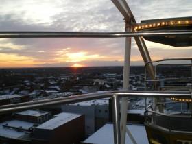 Sunset across Preston