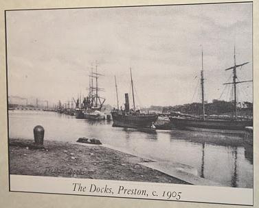 Preston Docks circa 1905