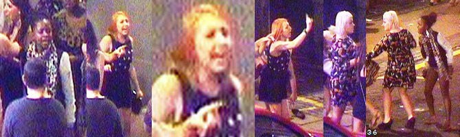 Above: The faces of three women police want to speak to in connection with an assault on Church Street