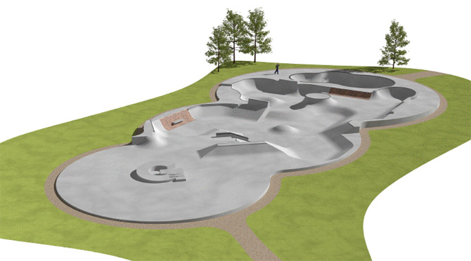 artists impression of moor park skate park