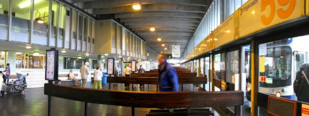 View inside Preston Bus Station