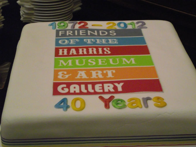 harris museum friends cake