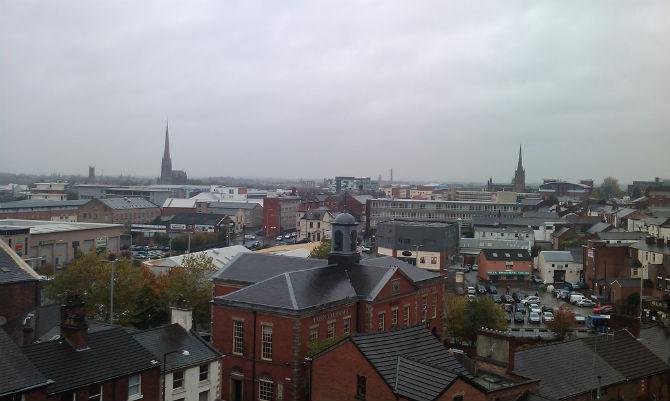 preston city centre view