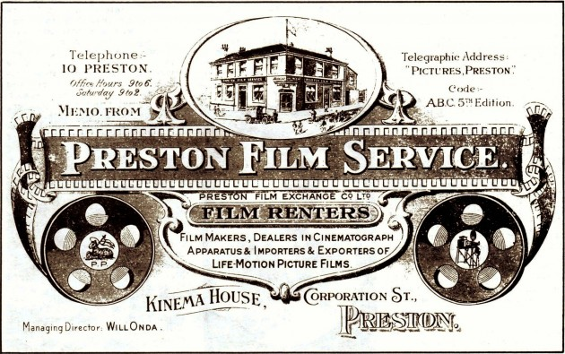 The Preston Film Service, Kinema House, Corporation Street, Preston